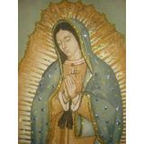Virgen De Guadalupe Lienzo Bendecido De Mexico