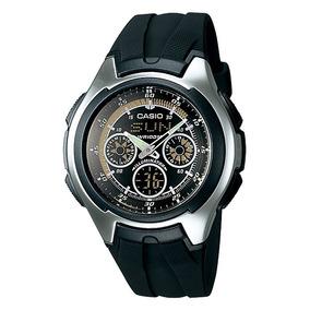 Relógio Casio Aq-163w-1b1 Analogico Digital Wr 100 Digital