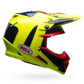 Bell Moto-9 Flex Vicepresidente Mx/offroad Casco Azul/amaril
