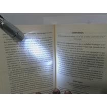 Leitor Noturno Com Led Para Leitura Livro Lanterna Ler Noite