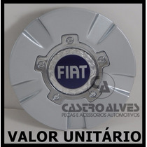 Calota Tampa Centro Roda Kromma Kr1630 Fiat Aro 17 Prata