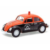 Volkswagen Fusca Clássico Policia Militar 1:24 Fusca-4