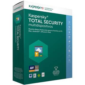 Kaspersky Total Security Antivirus 2017 4 Usuarios 1 Año