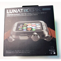 Apple Watch Lunatik 1y2 42mm 100% Or. Aluminio Y Piel Café