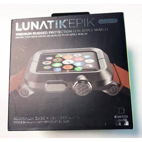 Apple Watch Lunatik 1de 42mm 100% Or. Aluminio Y Piel Café