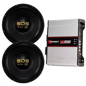 Par Subwoofer Eros E15 2.7k Sds 1350w Amplificador Hd 3000
