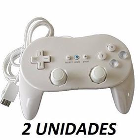 2 Controles Nintendo Wii Controller Pro Melhor Preço Do Ml!!