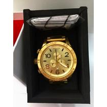 Relógio Nixon 51-30 Dourado Original + Caixa Original