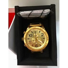 Relógio Nixon 51-30 Dourado Original + 3 Anos De Garantia