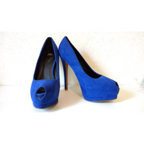 Zapatos Azul Rey Qupid Talla 6mx/9usa /uso Medio