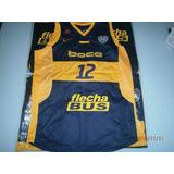 Musculosa Boca Juniors Basquet Azul Amarilla Blanca Y Negra