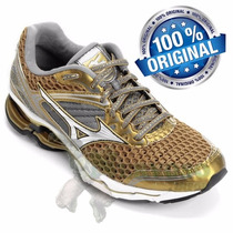 Mizuno Wave Creation 17 Gold Runners Importado
