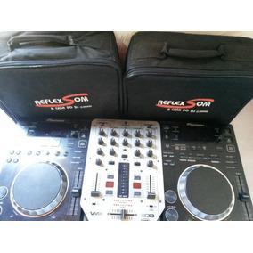 Par De Cdj Pioneer 350 + Mixer Behringer Vmx Usb 200 + Case