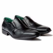 Zapato Pasotti Enzo Cuero Negro Sin Cordones