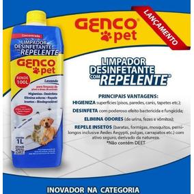 Limpador Desinfetante Com Repelente Genco Pet 1l