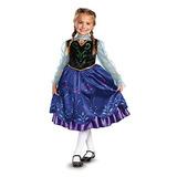 Disfraz De Anna Clásico Original Disney Vestido Elsa Frozen
