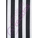 Tecido Jacquard Estampado Listrado Branco E Preto 1m X 1,4m