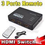 Nuevo Switch Selector 3x1 Hdmi 1080p.