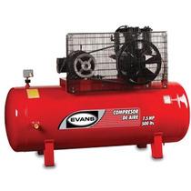 Compresor 7.5 Hp Trifasico 500 L A75 Psi Marca Evans Oferta