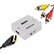 Mini Adaptador Convertidor Señal Hdmi A Rca (audio Y Video)