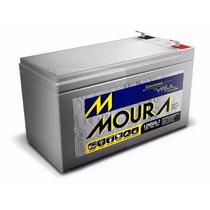 Kit Com 10 Baterias Moura 12v 7a Cerca/alarme/nobreak