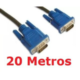 Cabo Vga 20m Monitor Lcd Pc Tv Projetor 20 Metros Blindado