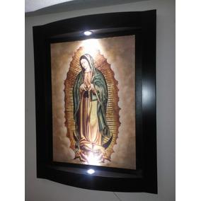 Litografía Cuadro Virgen De Guadalupe Luz Led