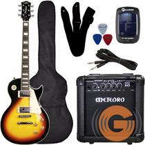 Guitarra Kit Strinberg Les Paul Clp79+ Cubo Mg 10 - Goias