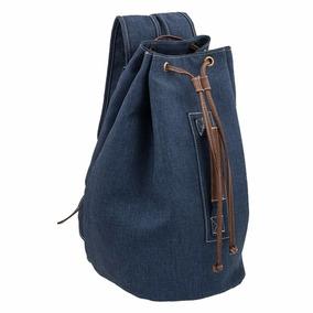 Mochila Backpack Morral Bolsa Mezclilla Unisex 7335-2