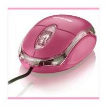 Mouse Rosa Classic Usb 800dpi Multlaser Mo002
