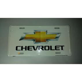 Placa Automotiva Chevrolet Produto Oficial Gm Estados Unidos