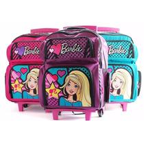 Mochila Barbie Con Ruedas Línea Dots - Art16791w .-