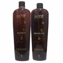 Kit Escova Progressiva Hair Vip C/ Óleo De Argan- 1l