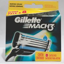 Carga Gillette Mach3 8 Cartuchos Promoção Dias Dos Pais