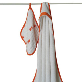 Juego De Toallas Para El Baño - Splish Splash - Naranja