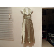 Vestido Halter Color Menta Razo Talla 28