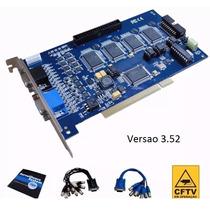 Placa Captura Cftv Geovision Gv800 16 Canais Azul Windows 7