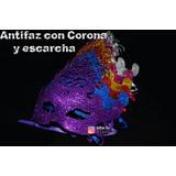 Antifaz Con Corona Escarchado Unicolor Hora Loca Quinceañera