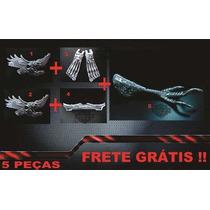 Kit 2 Emblemas+moldura+pe De Aguia+pedaleira Caveira+frete