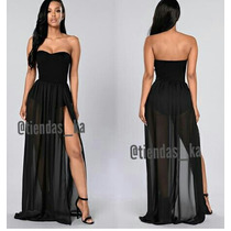 Vestido Largo De Fiesta Elegante Sexy Ultima Moda Dama