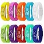Kit 10 Pulseira Silicone Relógio Led Digital Sport Bracelete