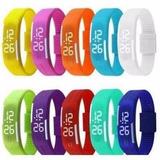 Kit 45 Pulseira Silicone Relógio Led Digital Sport Bracelete