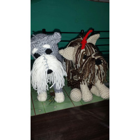 Perros Yorkshire, Schnauser.en Crochet.peluche.amigurumi