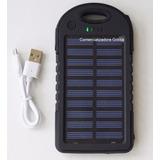 Cargador Solar Alta Duración 2 Puertos De Carga 12.000 Mah