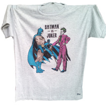 Remera Comics Anime Gamers Cine - Dc Batman Vs Joker Comic
