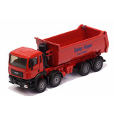 Miniatura Caminhão Caçamba Dump Truck Em Metal Kdw 1/50