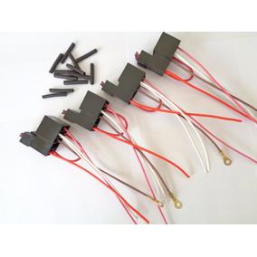 10 Soquetes Base Porta Rele Auxiliar 3/4/5 Pinos C/ Fusivel