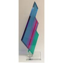 Escultura Moderna En Acrílico Multicolor De Shlomi Haziza.