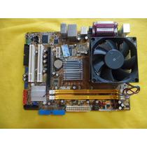 Placa Mãe Asus 775 Ddr2 P5gc-mx + Dual Core 2140 + Espelho