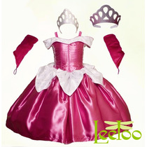 Vestido Aurora Princesa Disfraz Bella Durmiente Envío Gratis